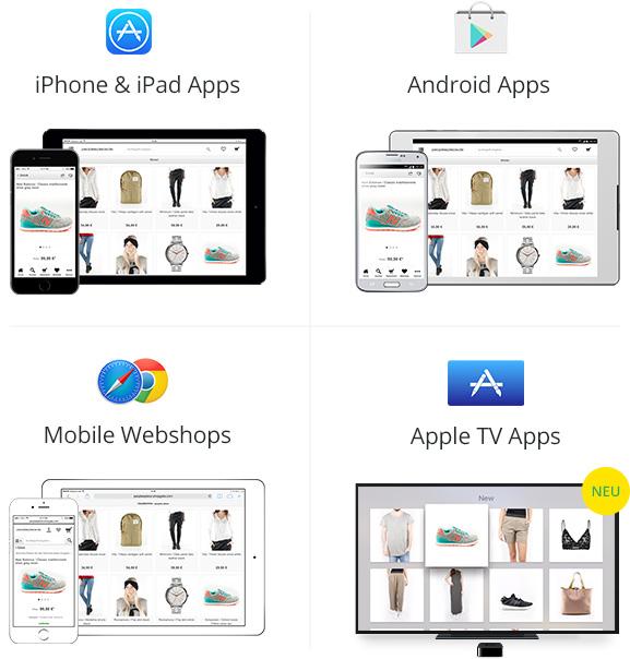 shopping apps mobile webseiten f r ihren onlineshop. Black Bedroom Furniture Sets. Home Design Ideas
