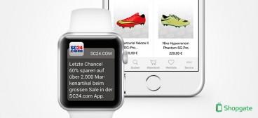 Shopgate auf der Apple Watch